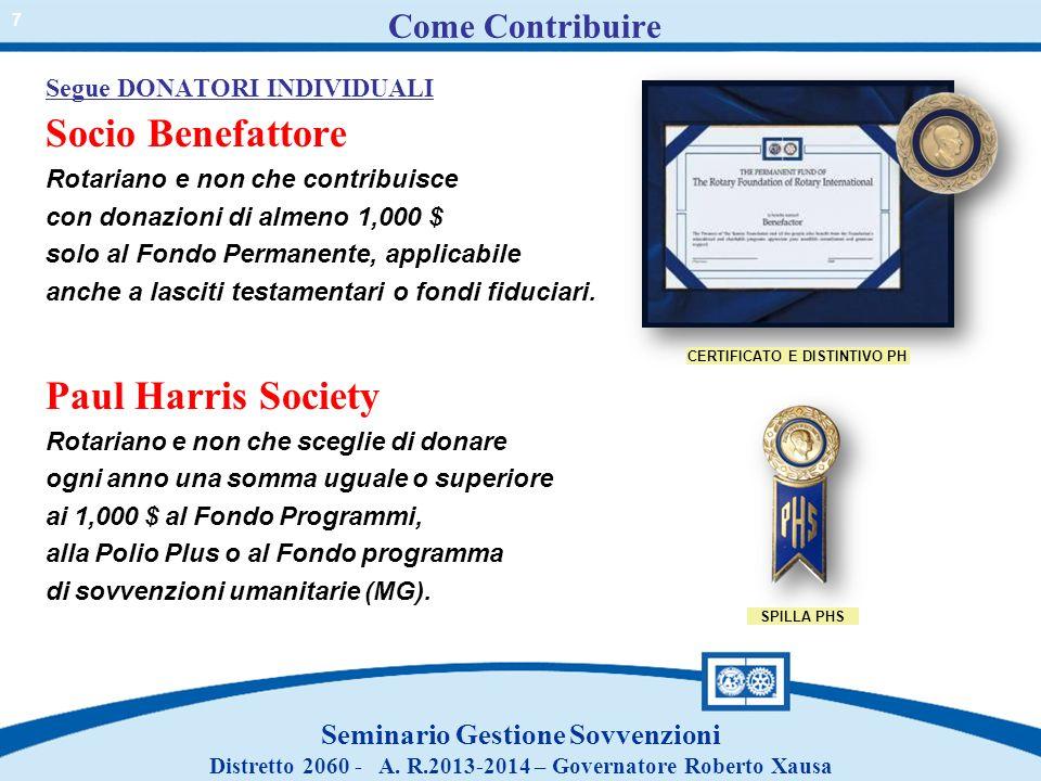Come Contribuire Socio Benefattore Paul Harris Society