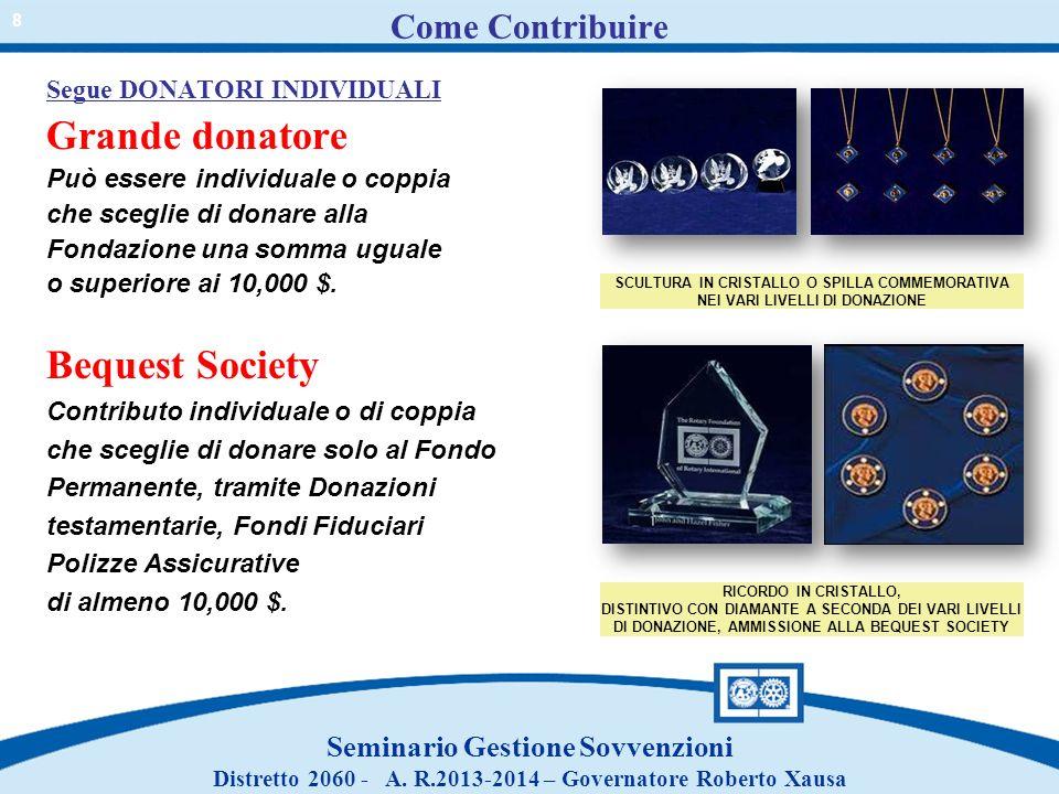 Come Contribuire Grande donatore Bequest Society