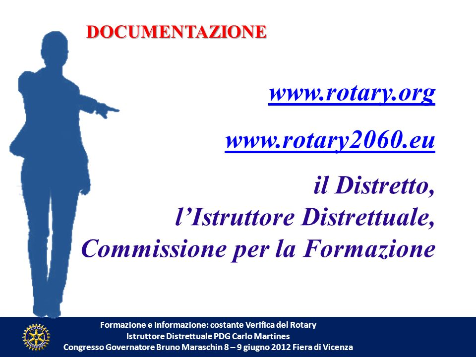 l'Istruttore Distrettuale, Commissione per la Formazione