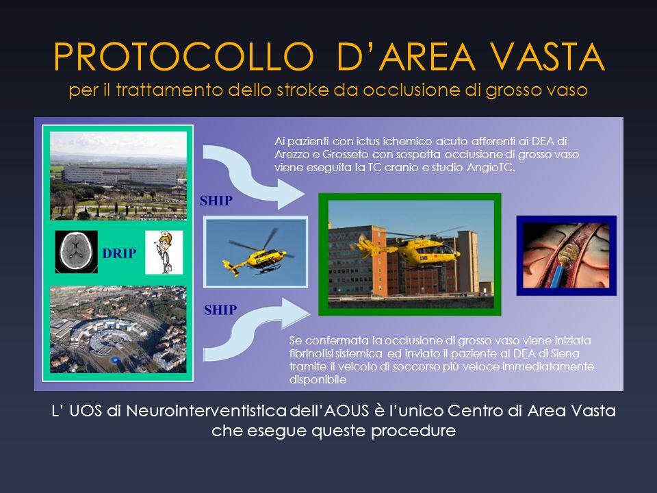 PROTOCOLLO D'AREA VASTA per il trattamento dello stroke da occlusione di grosso vaso