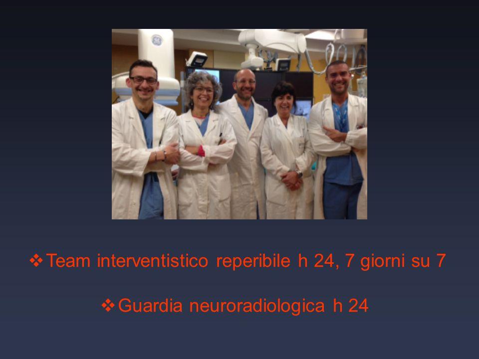 Team interventistico reperibile h 24, 7 giorni su 7