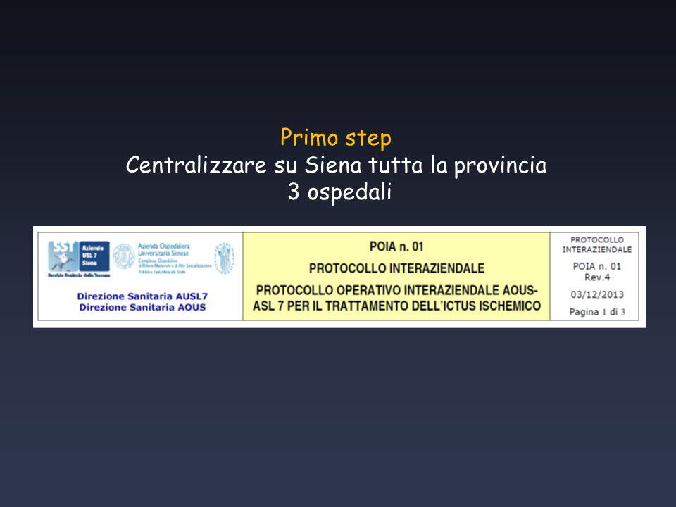 Centralizzare su Siena tutta la provincia
