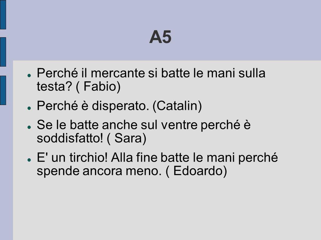 A5 Perché il mercante si batte le mani sulla testa ( Fabio)