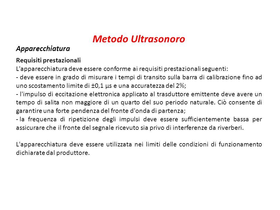 Metodo Ultrasonoro Apparecchiatura Requisiti prestazionali