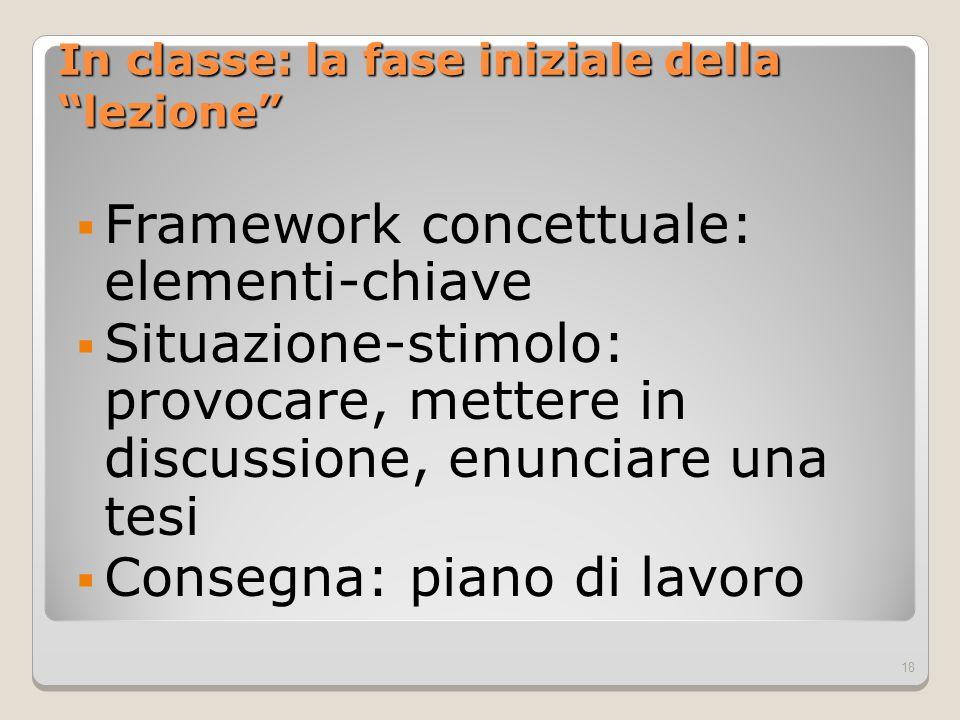 Framework concettuale: elementi-chiave