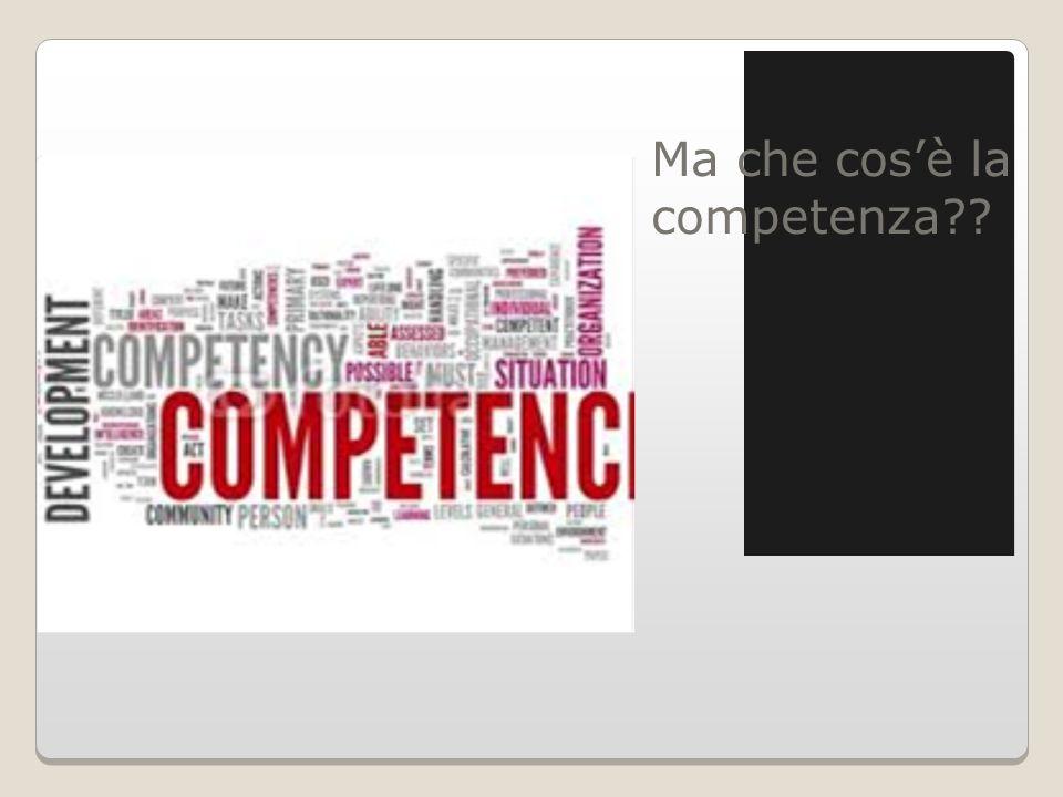 Ma che cos'è la competenza