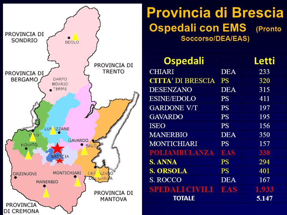 Provincia di Brescia Ospedali con EMS (Pronto Soccorso/DEA/EAS)