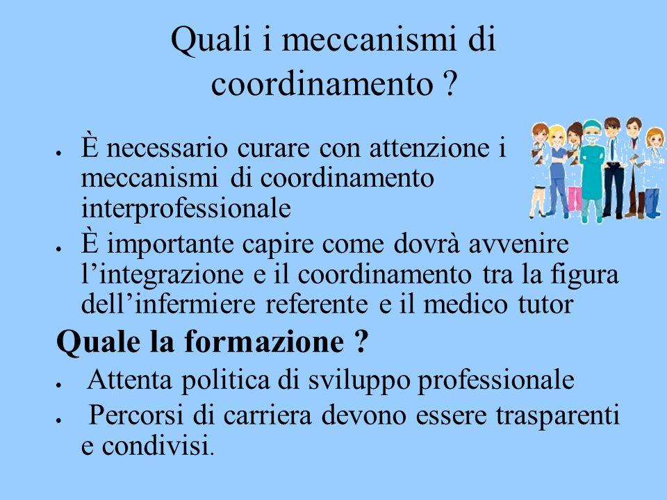 Quali i meccanismi di coordinamento