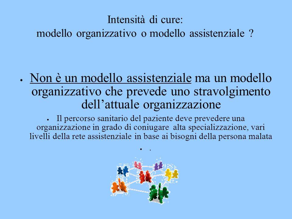 Intensità di cure: modello organizzativo o modello assistenziale