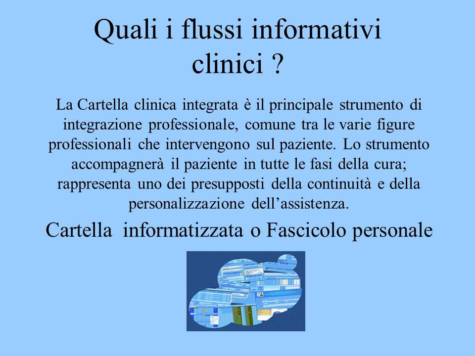 Quali i flussi informativi clinici