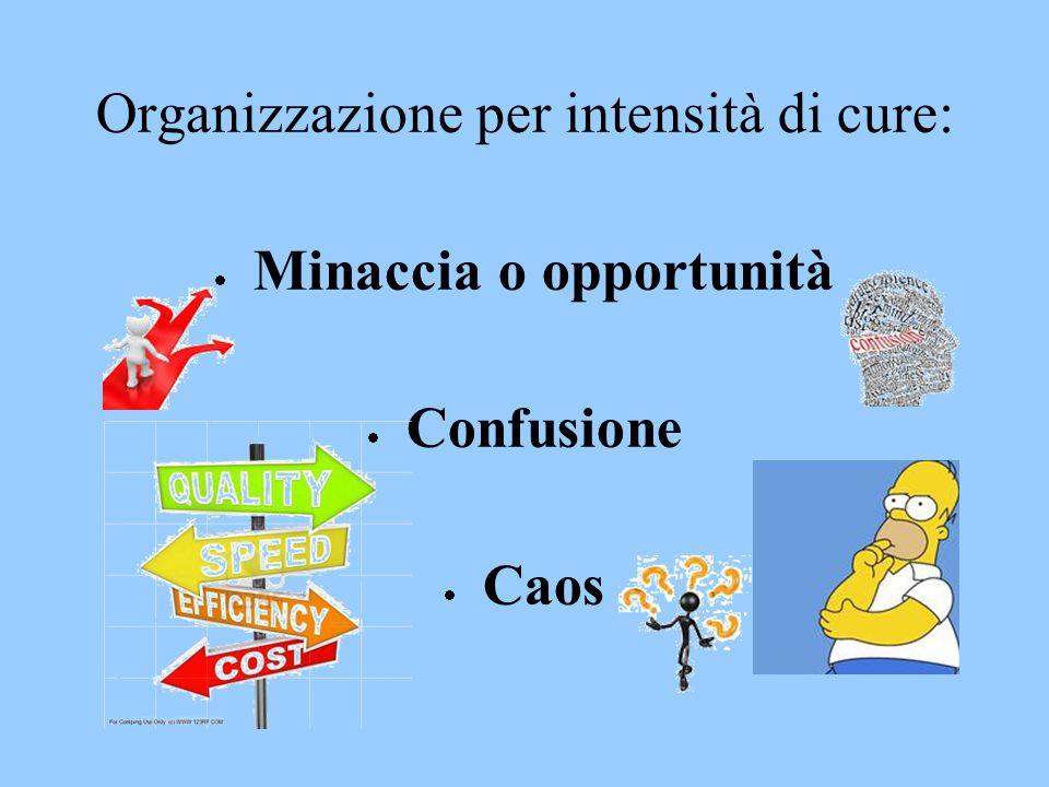 Organizzazione per intensità di cure: