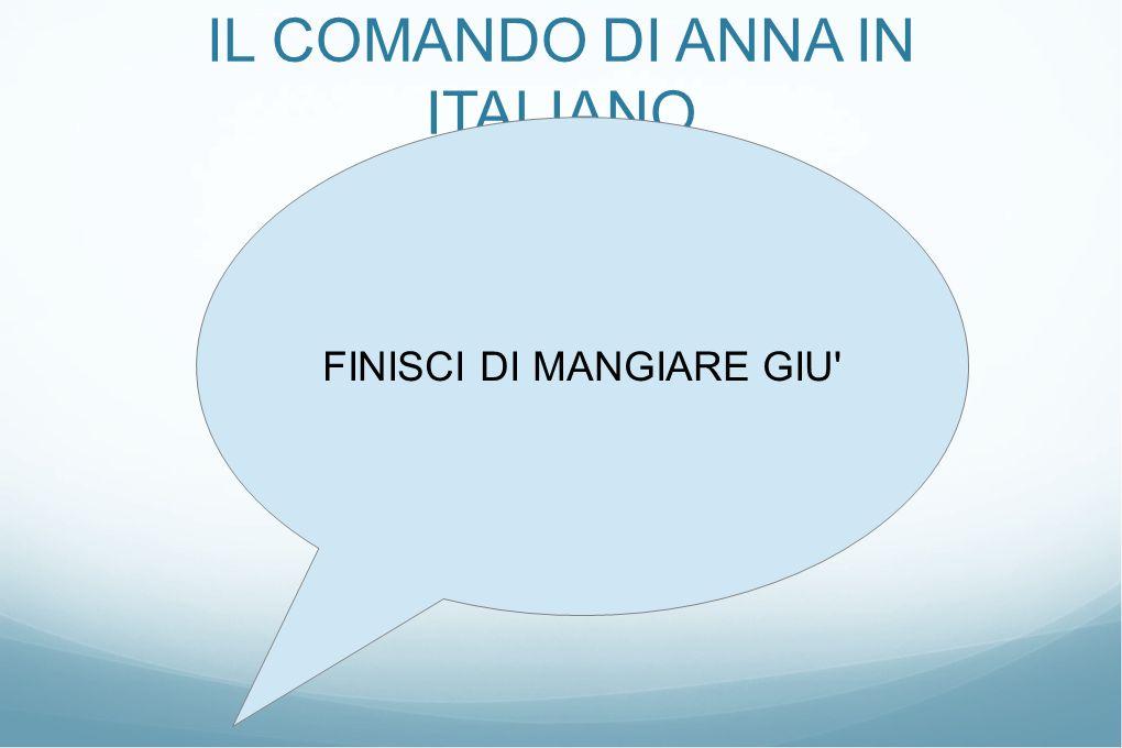 IL COMANDO DI ANNA IN ITALIANO