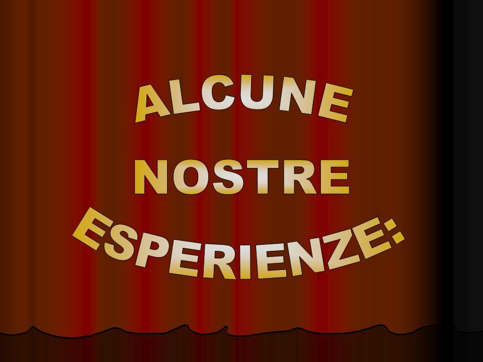 ALCUNE NOSTRE ESPERIENZE: