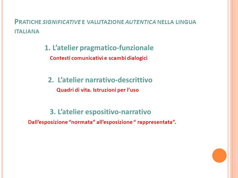 Pratiche significative e valutazione autentica nella lingua italiana
