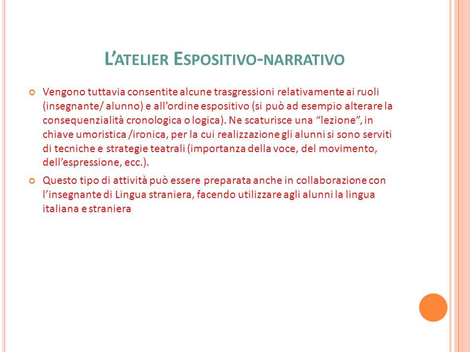 L'atelier Espositivo-narrativo