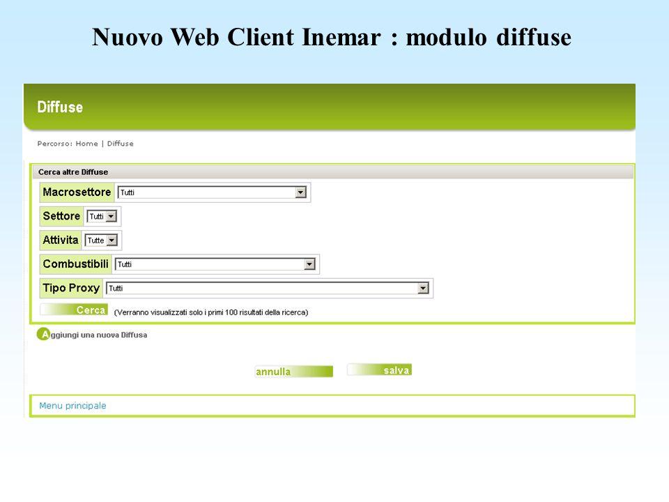 Nuovo Web Client Inemar : modulo diffuse