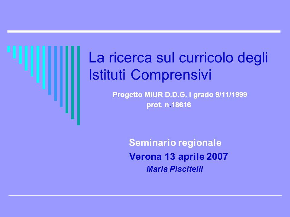 Seminario regionale Verona 13 aprile 2007 Maria Piscitelli