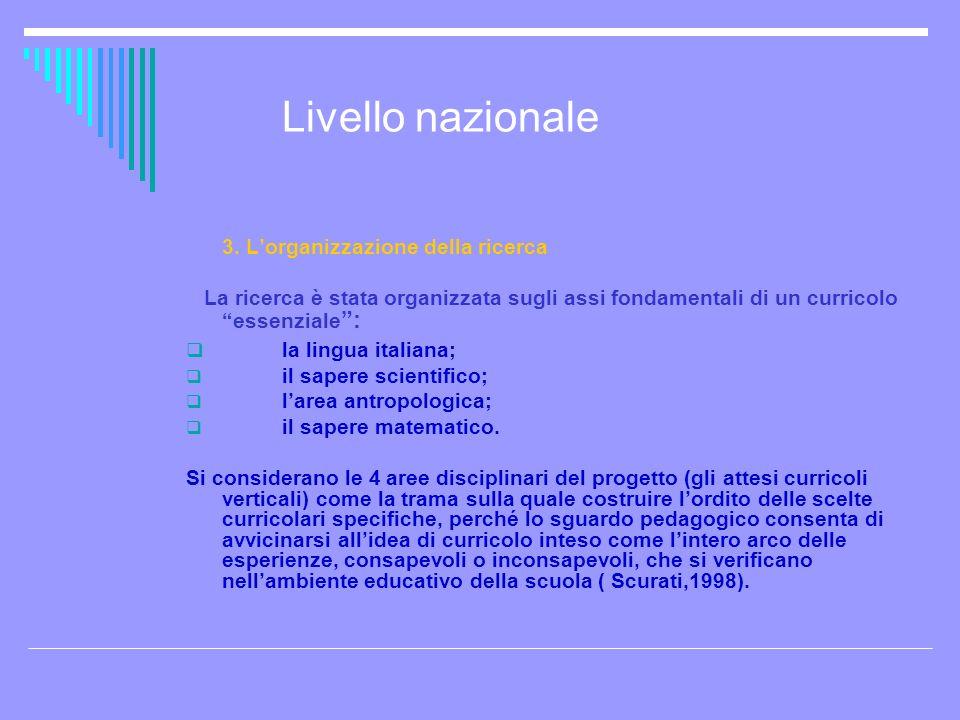Livello nazionale la lingua italiana;