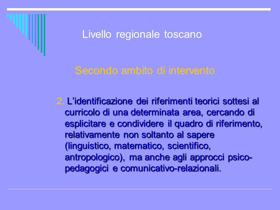 Livello regionale toscano