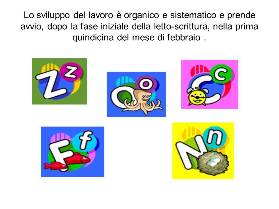 Lo sviluppo del lavoro è organico e sistematico e prende avvio, dopo la fase iniziale della letto-scrittura, nella prima quindicina del mese di febbraio .