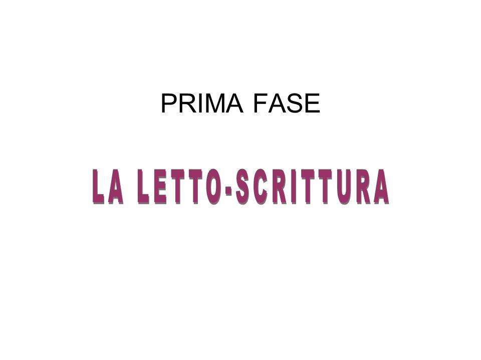 PRIMA FASE LA LETTO-SCRITTURA