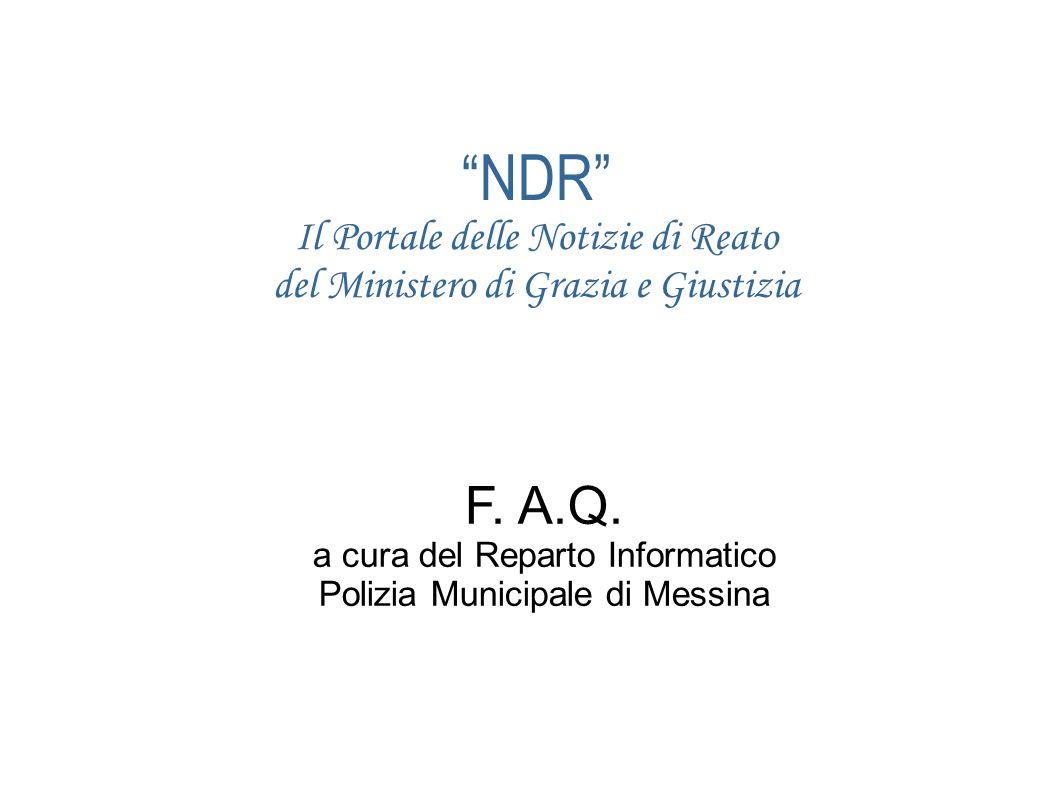 NDR Il Portale delle Notizie di Reato del Ministero di Grazia e Giustizia