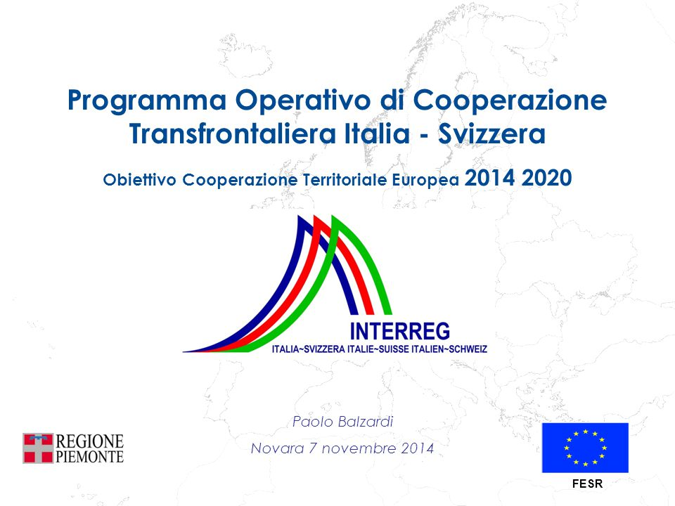 Programma Operativo di Cooperazione Transfrontaliera Italia - Svizzera