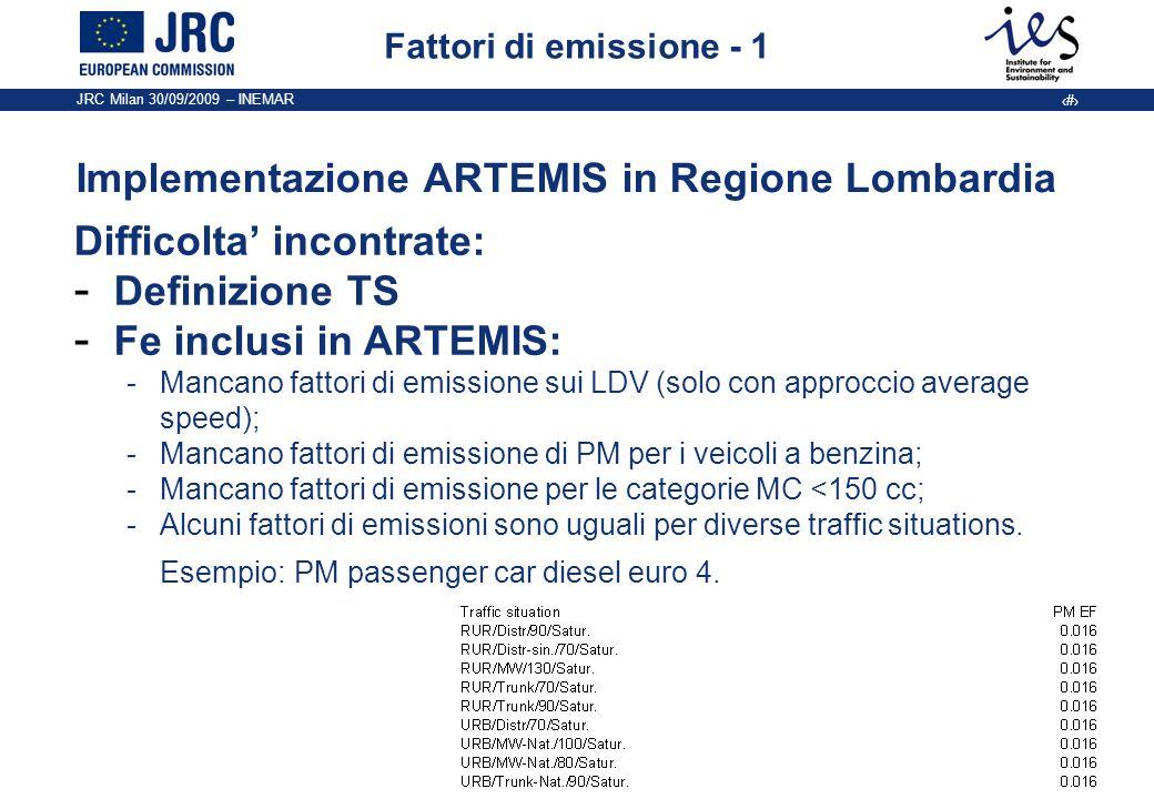 Implementazione ARTEMIS in Regione Lombardia