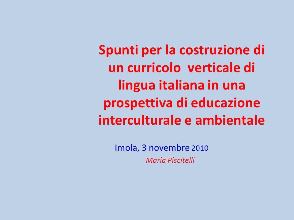 Imola, 3 novembre 2010 Maria Piscitelli