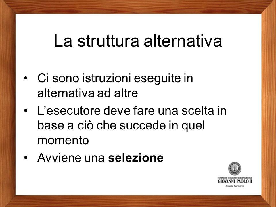 La struttura alternativa
