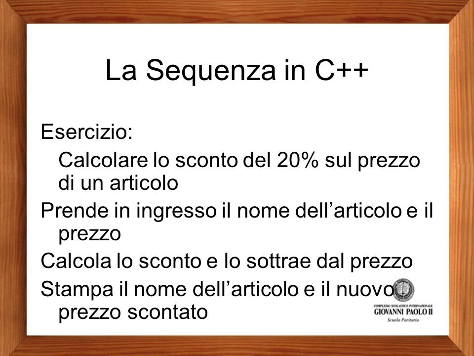 La Sequenza in C++