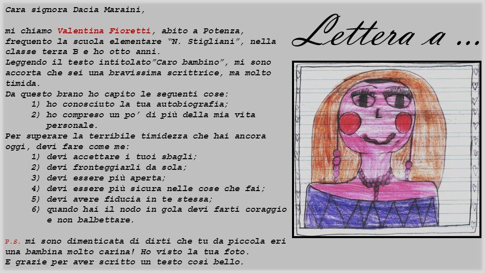 Lettera a … Cara signora Dacia Maraini,