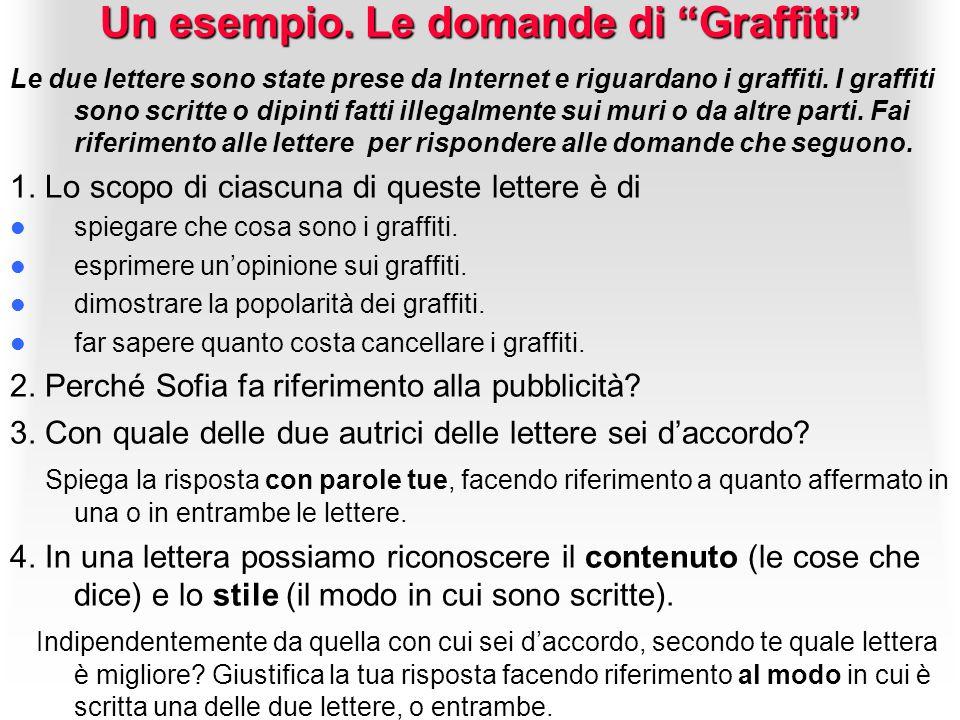 Un esempio. Le domande di Graffiti
