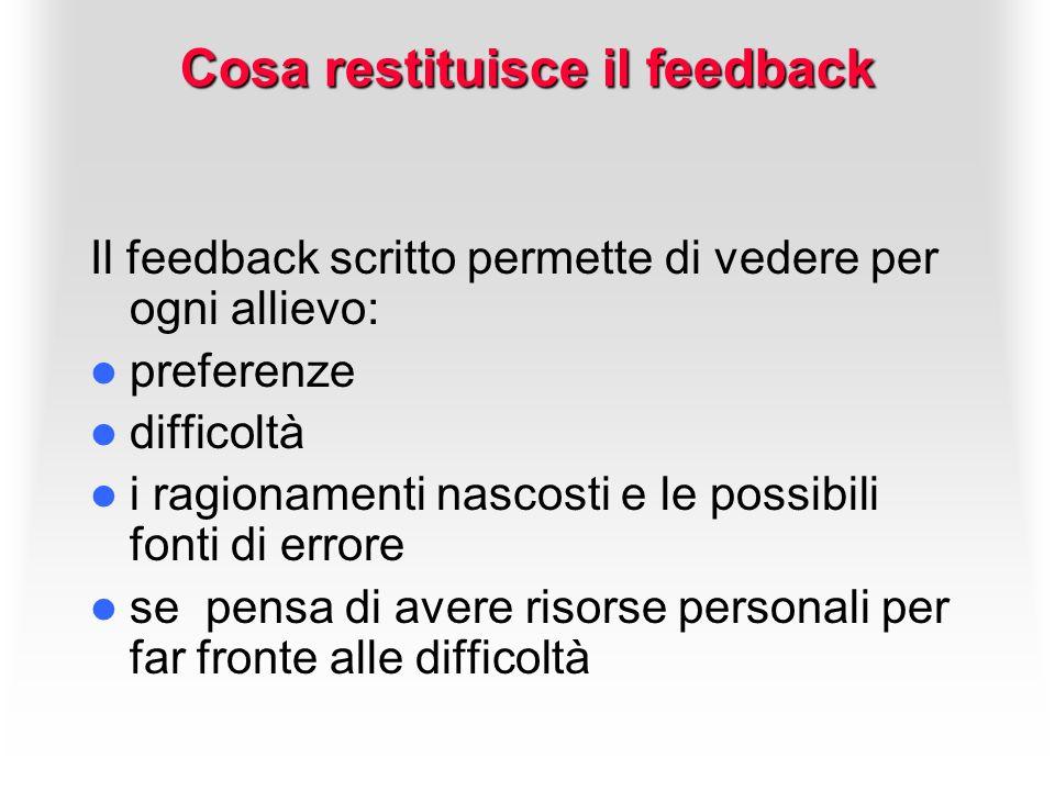 Cosa restituisce il feedback