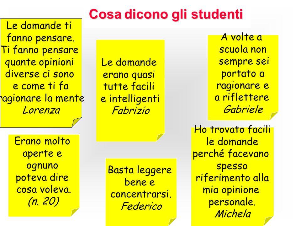 Cosa dicono gli studenti