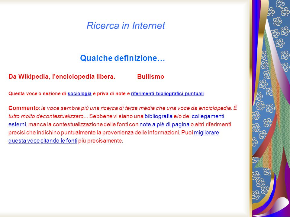 Ricerca in Internet Qualche definizione…