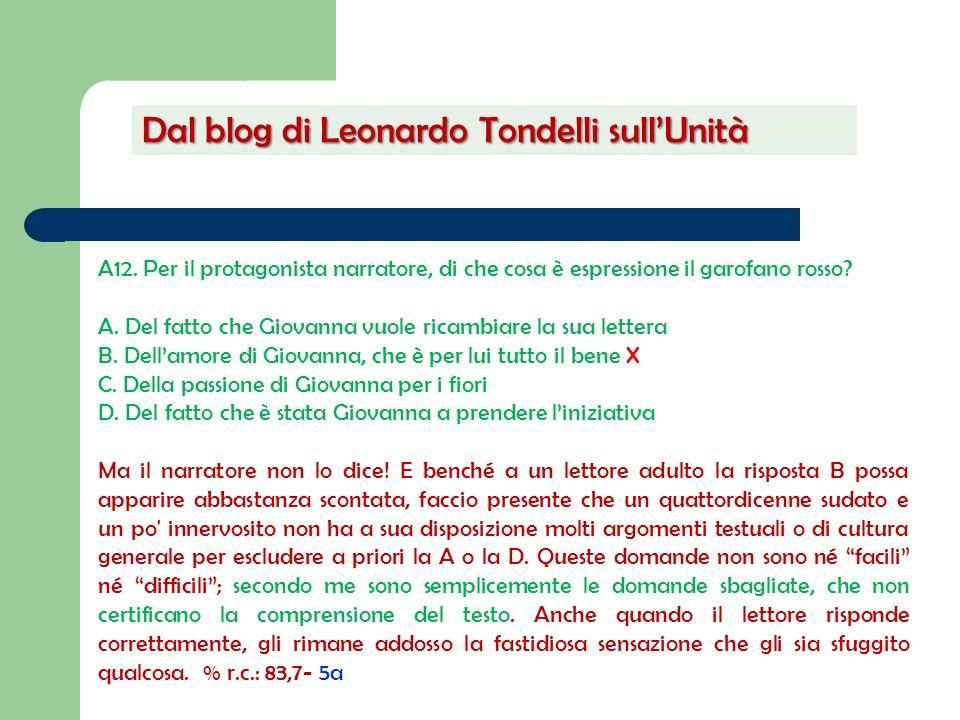 Dal blog di Leonardo Tondelli sull'Unità