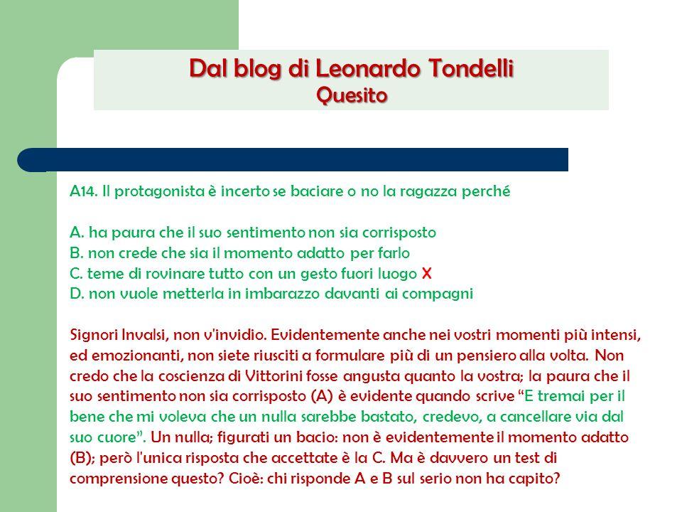 Dal blog di Leonardo Tondelli Quesito
