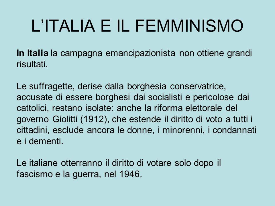 L'ITALIA E IL FEMMINISMO