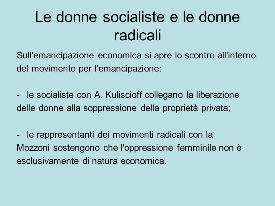Le donne socialiste e le donne radicali