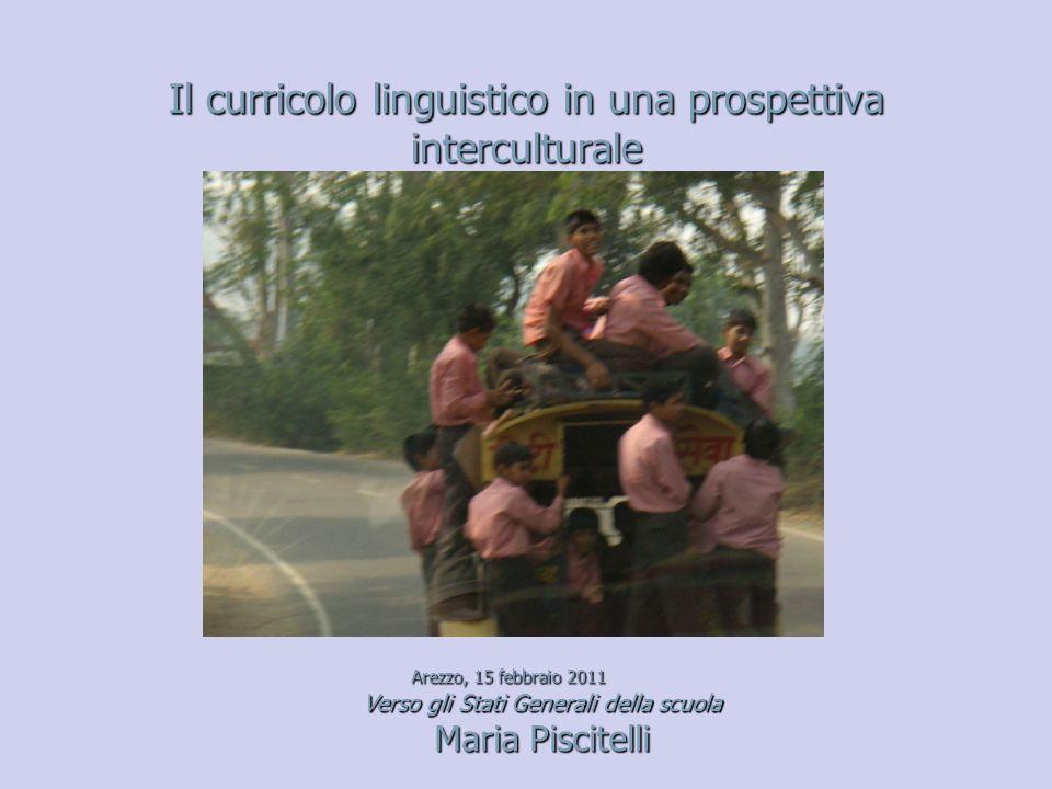 Il curricolo linguistico in una prospettiva interculturale