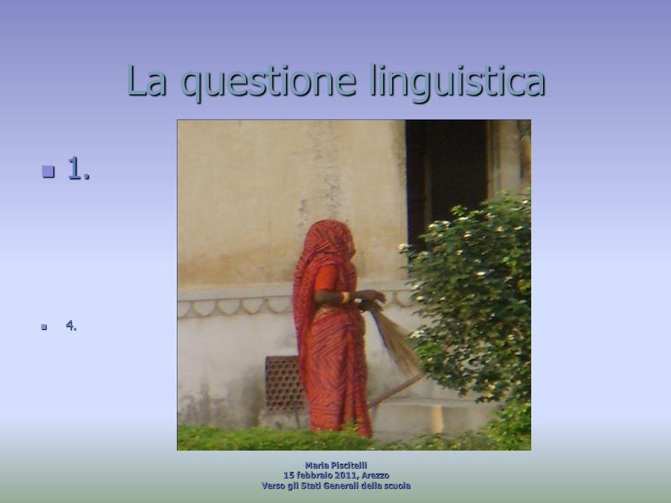 La questione linguistica
