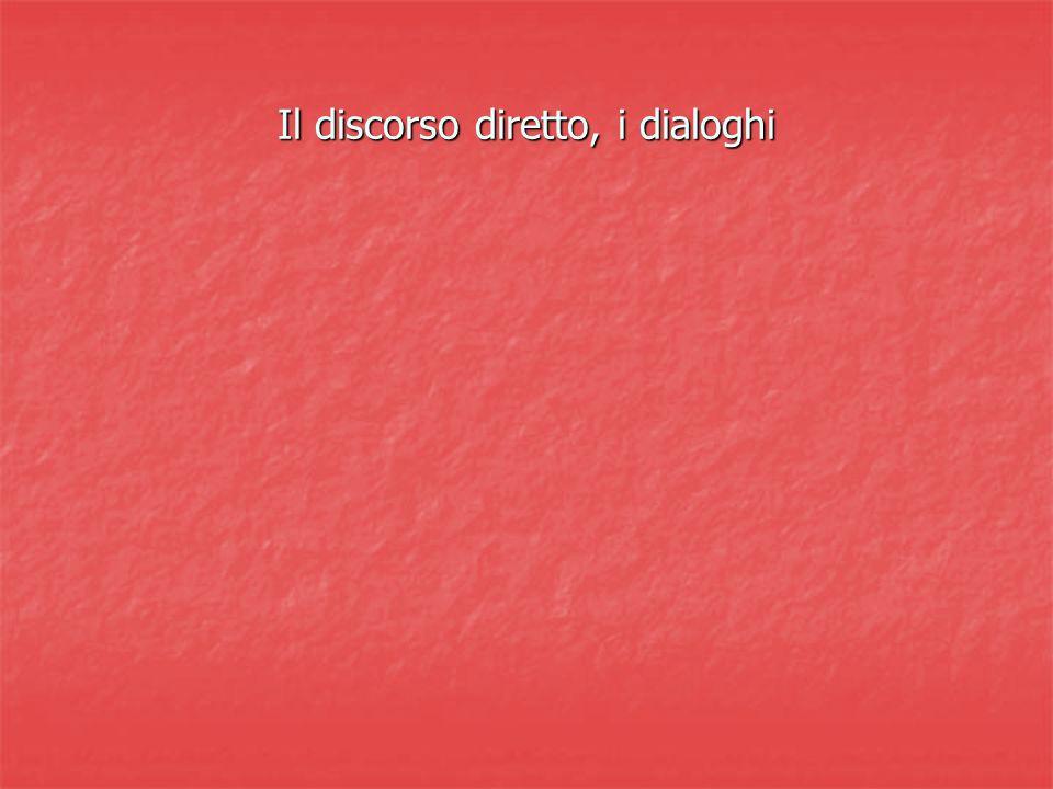 Il discorso diretto, i dialoghi