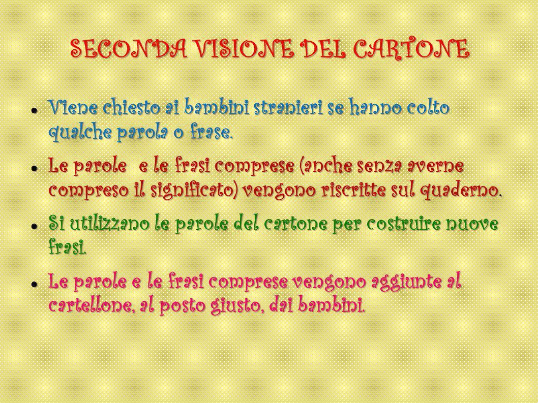 SECONDA VISIONE DEL CARTONE