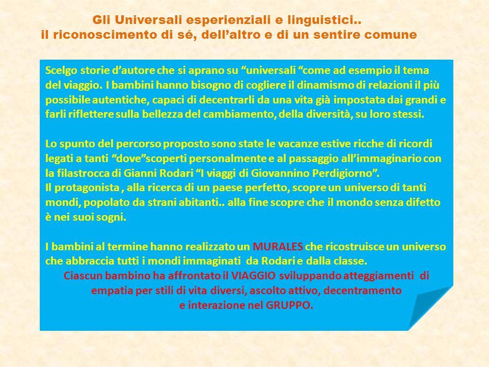Gli Universali esperienziali e linguistici..