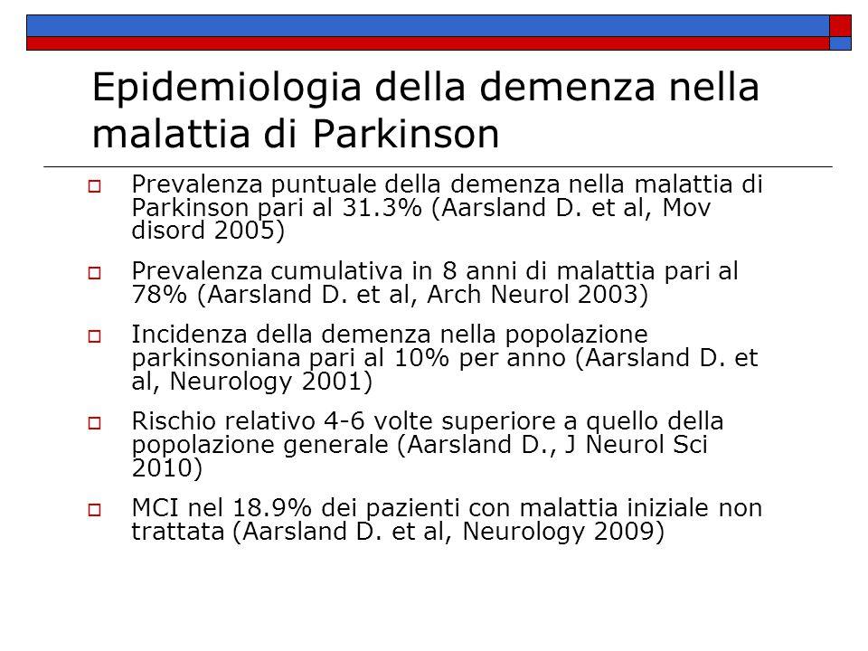 Epidemiologia della demenza nella malattia di Parkinson