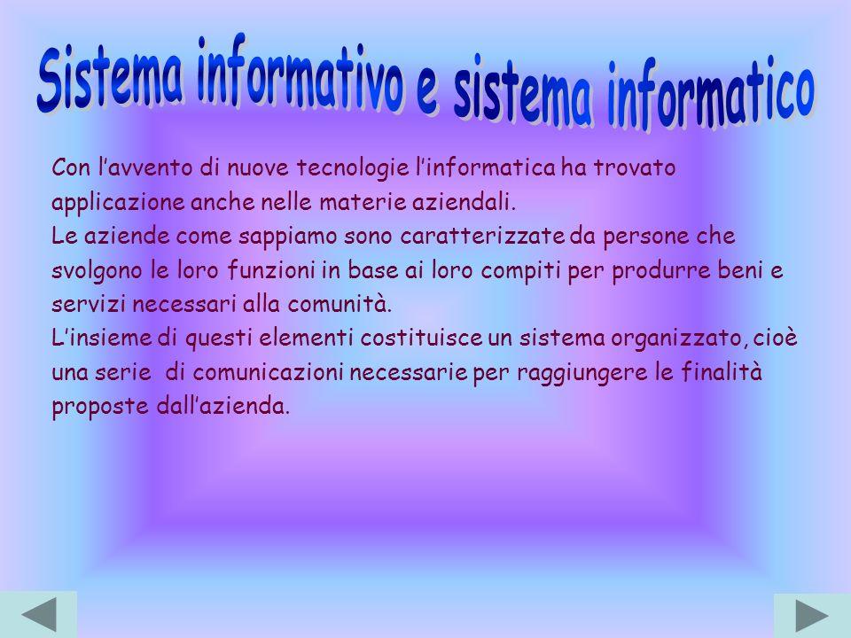 Sistema informativo e sistema informatico