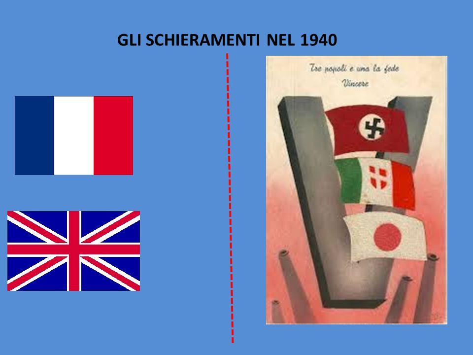 GLI SCHIERAMENTI NEL 1940