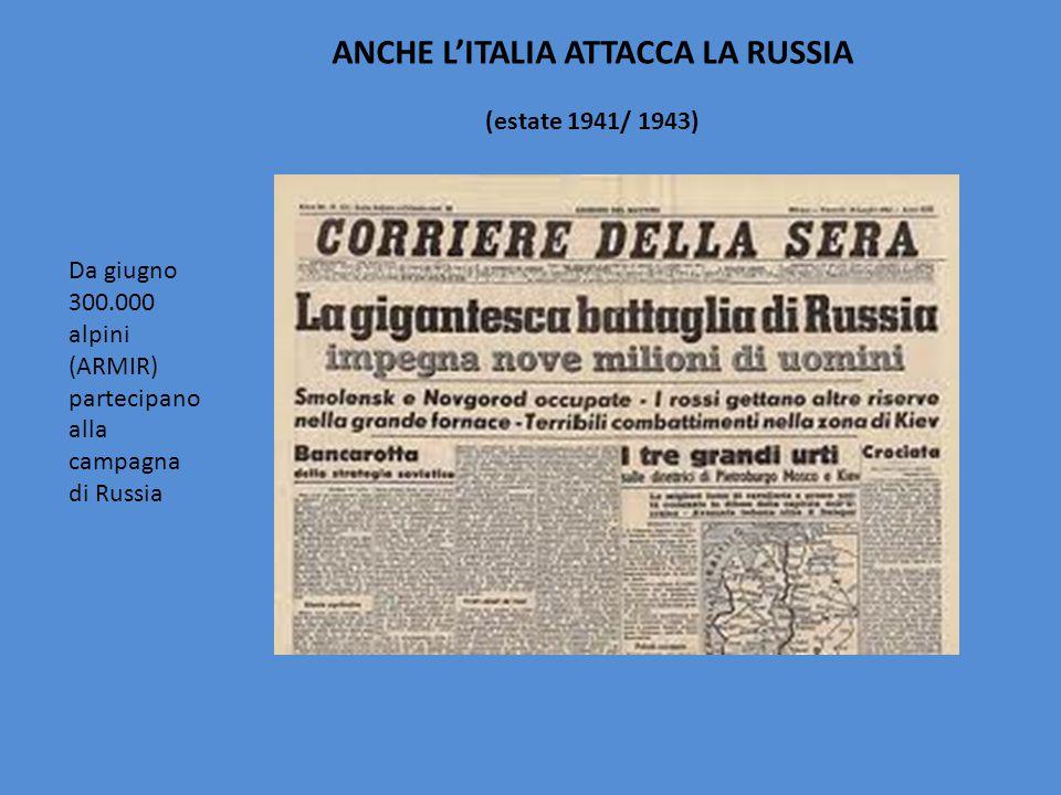 ANCHE L'ITALIA ATTACCA LA RUSSIA