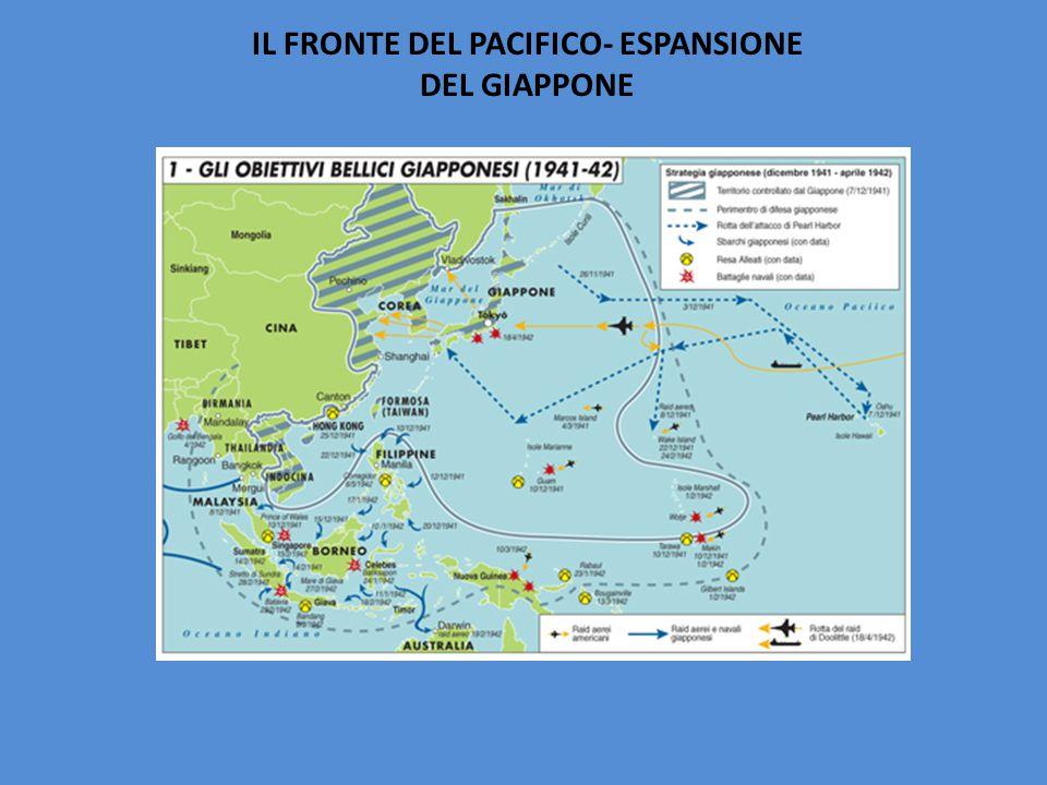 IL FRONTE DEL PACIFICO- ESPANSIONE DEL GIAPPONE
